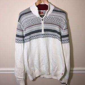 IZOD  White Zip Sweater XXL